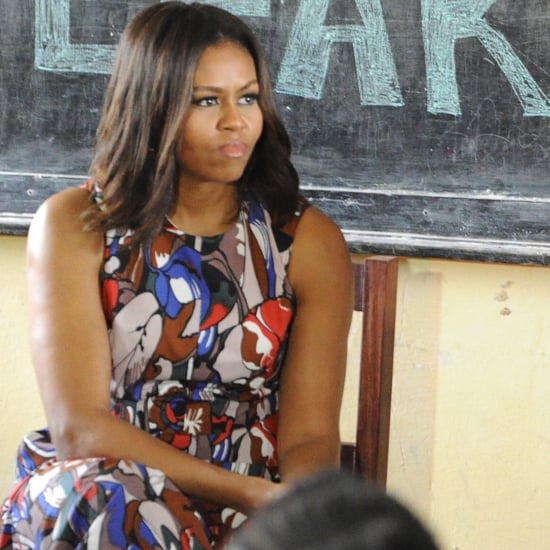 Michelle Obama's Printed Dress in Liberia June 2016