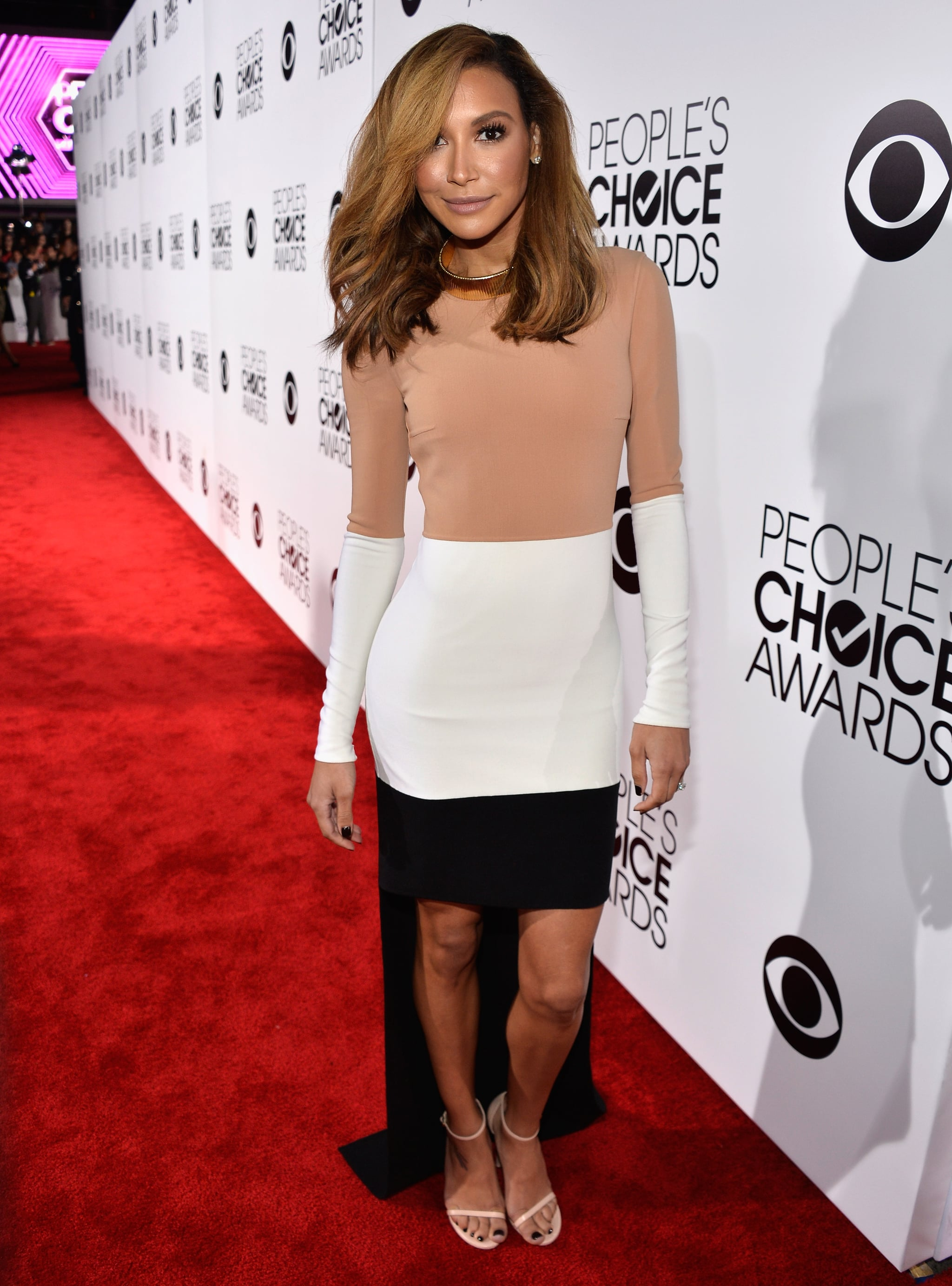 naya rivera dress at peoples choice awards 2014