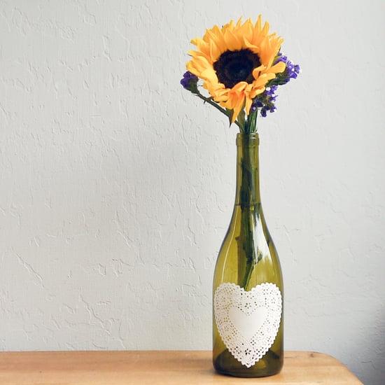 DIY Decoupaged Doily Bottle