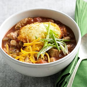 Easy Turkey Chili With White Beans and Corn Bread Dumplings | POPSUGAR ...