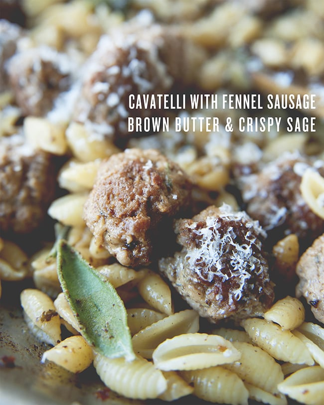You're Going to Want to Dive Into a Bowl of This Pasta With Sausage and Sage