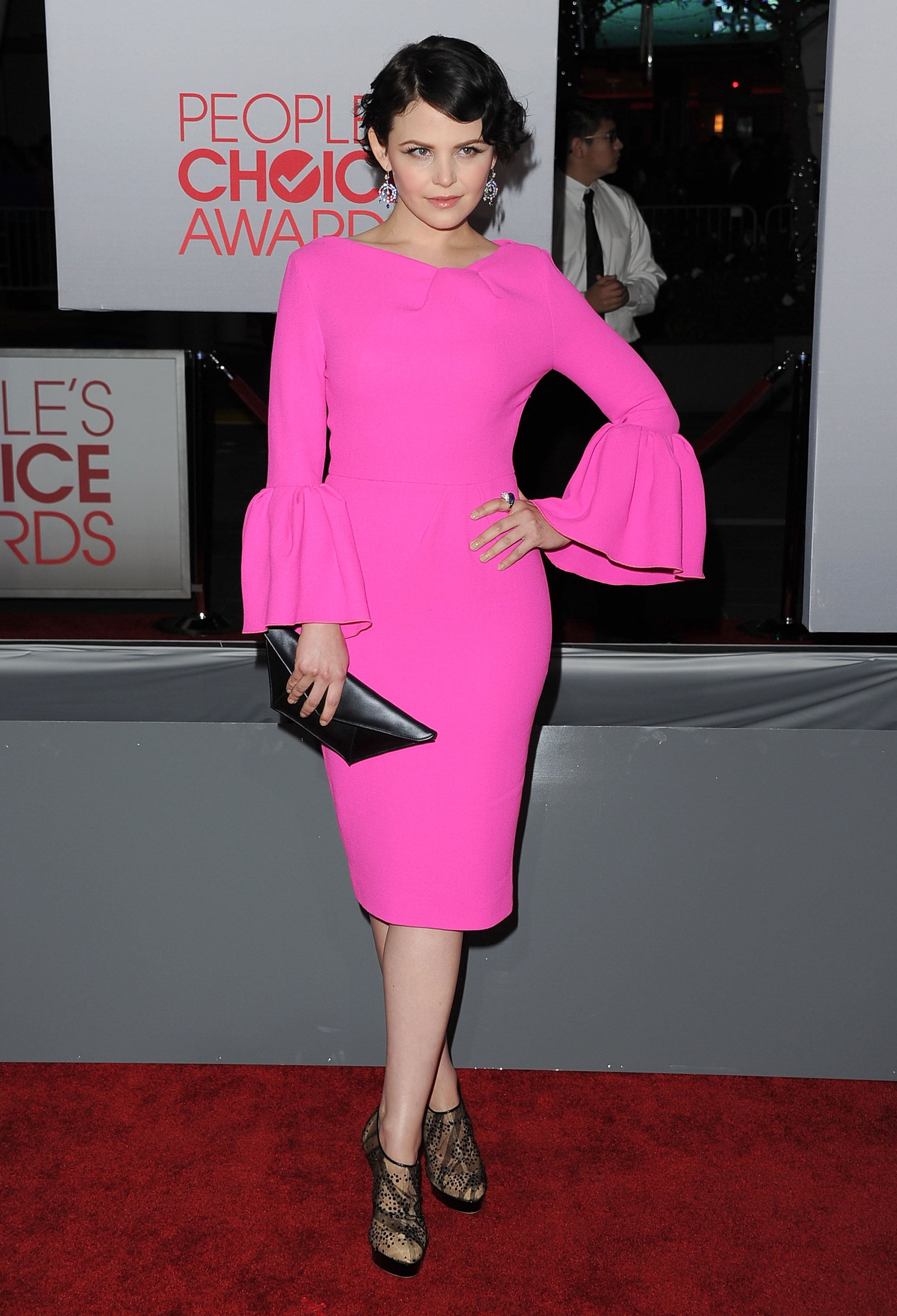 Ginnifer Goodwin had on lace booties for the People's Choice Awards.