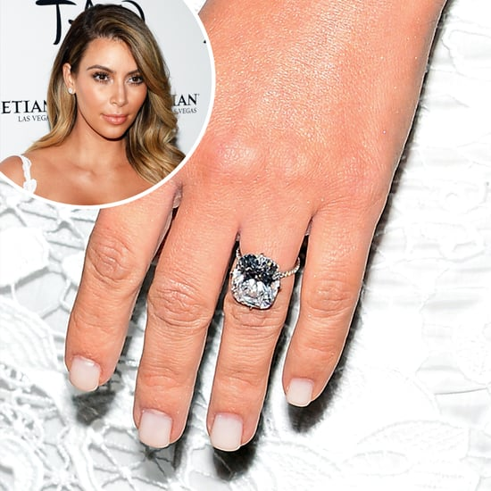 Love It or Leave It? Kim's White Engagement Ring Manicure