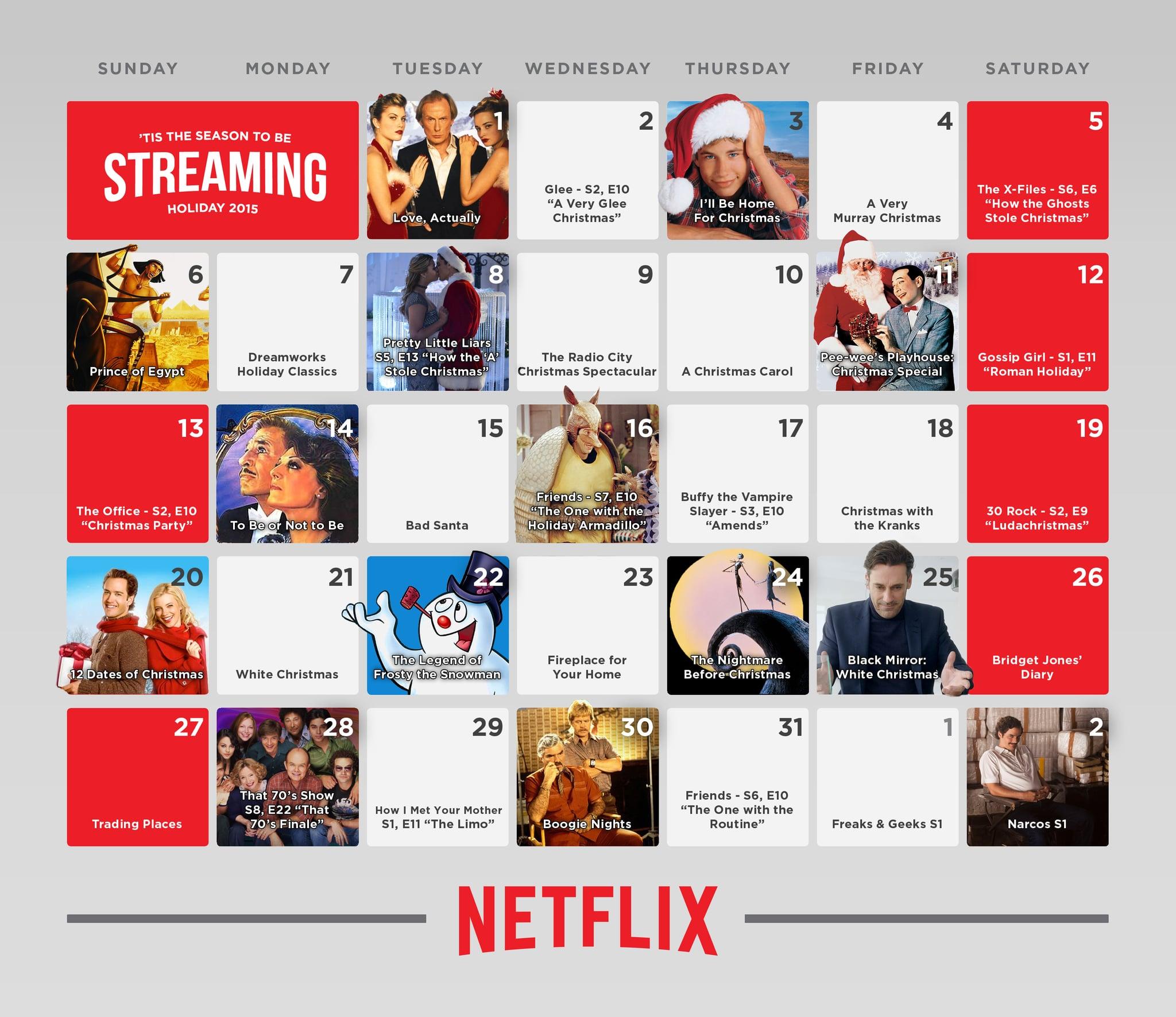 Christmas Calendar Movie : Netflix s holiday movie calendar popsugar entertainment