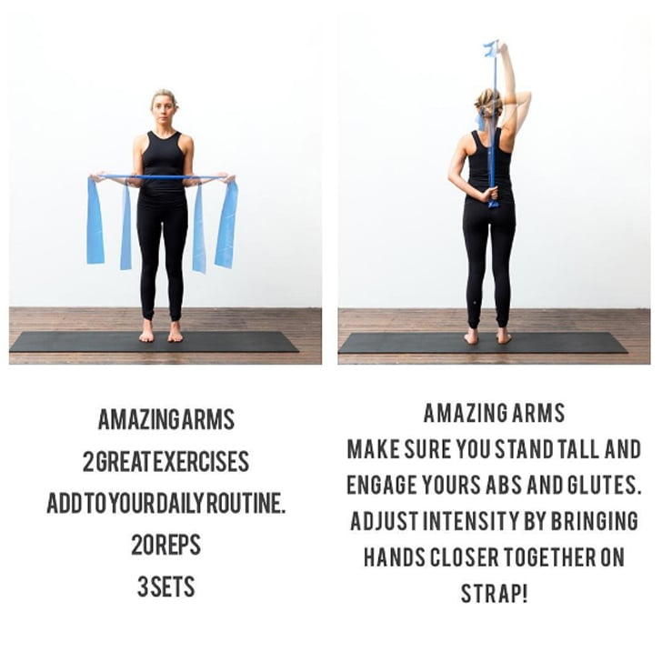Pilates Resistance Band Exercise To Tone Arms Popsugar