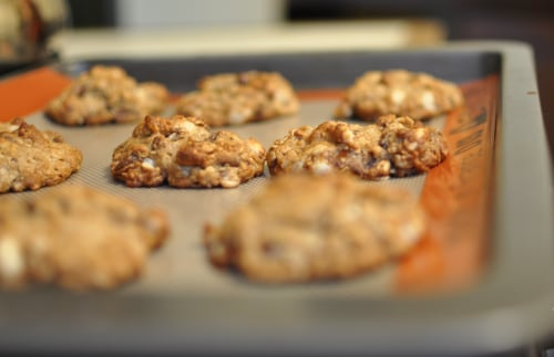 Peanut Butter and Chocolate Oatmeal Cookies