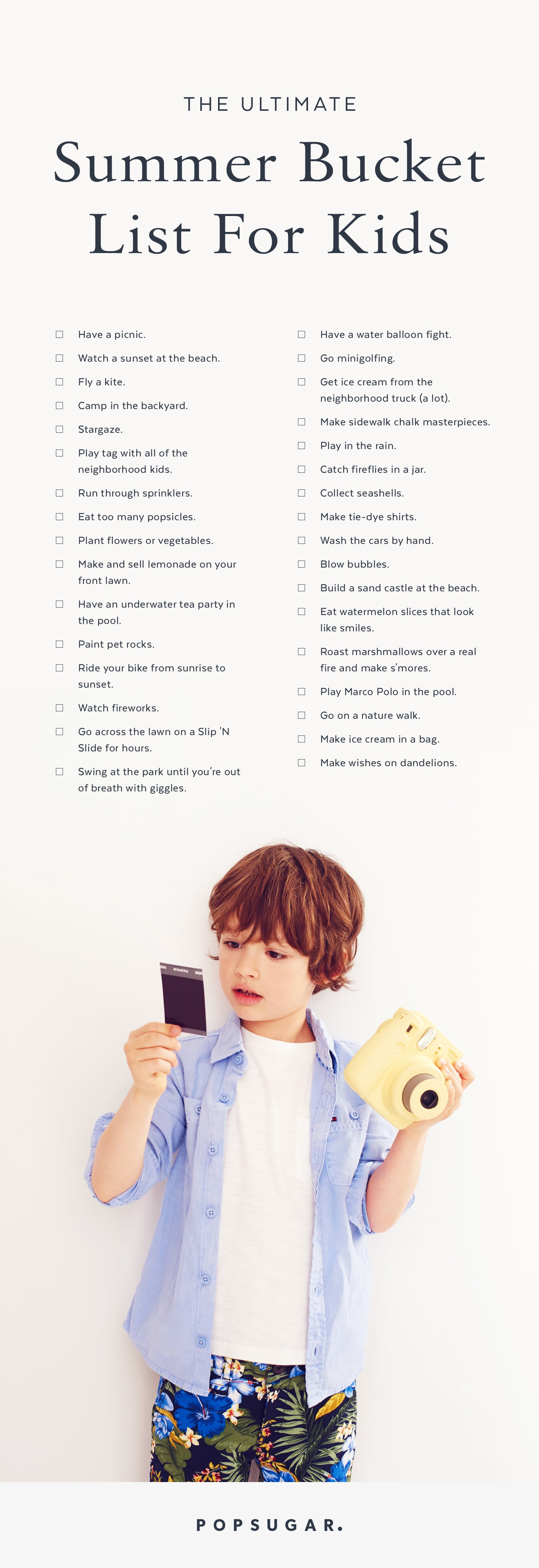 Summer Bucket List For Kids Popsugar Family