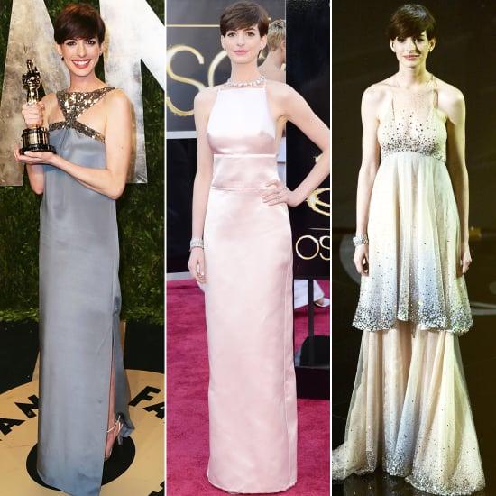 Anne Hathaway Oscar Award: Anne Hathaway Oscar Dresses 2013