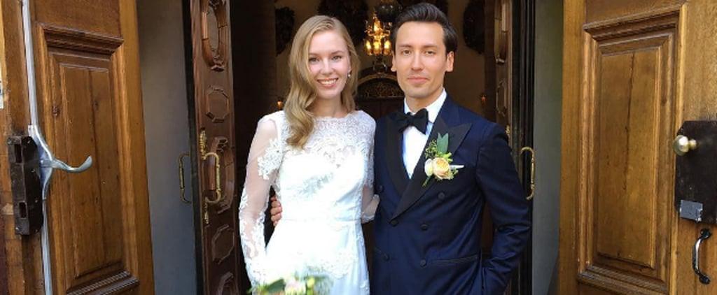 Das Hochzeitskleid dieser Modebloggerin ist Hollywood Glamour pur