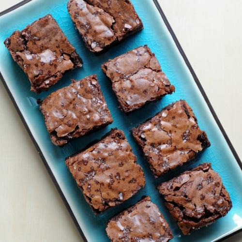 Fudgy Salted Brownies