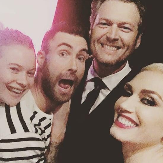 Gwen Stefani and Blake Shelton Selfie With Adam Levine