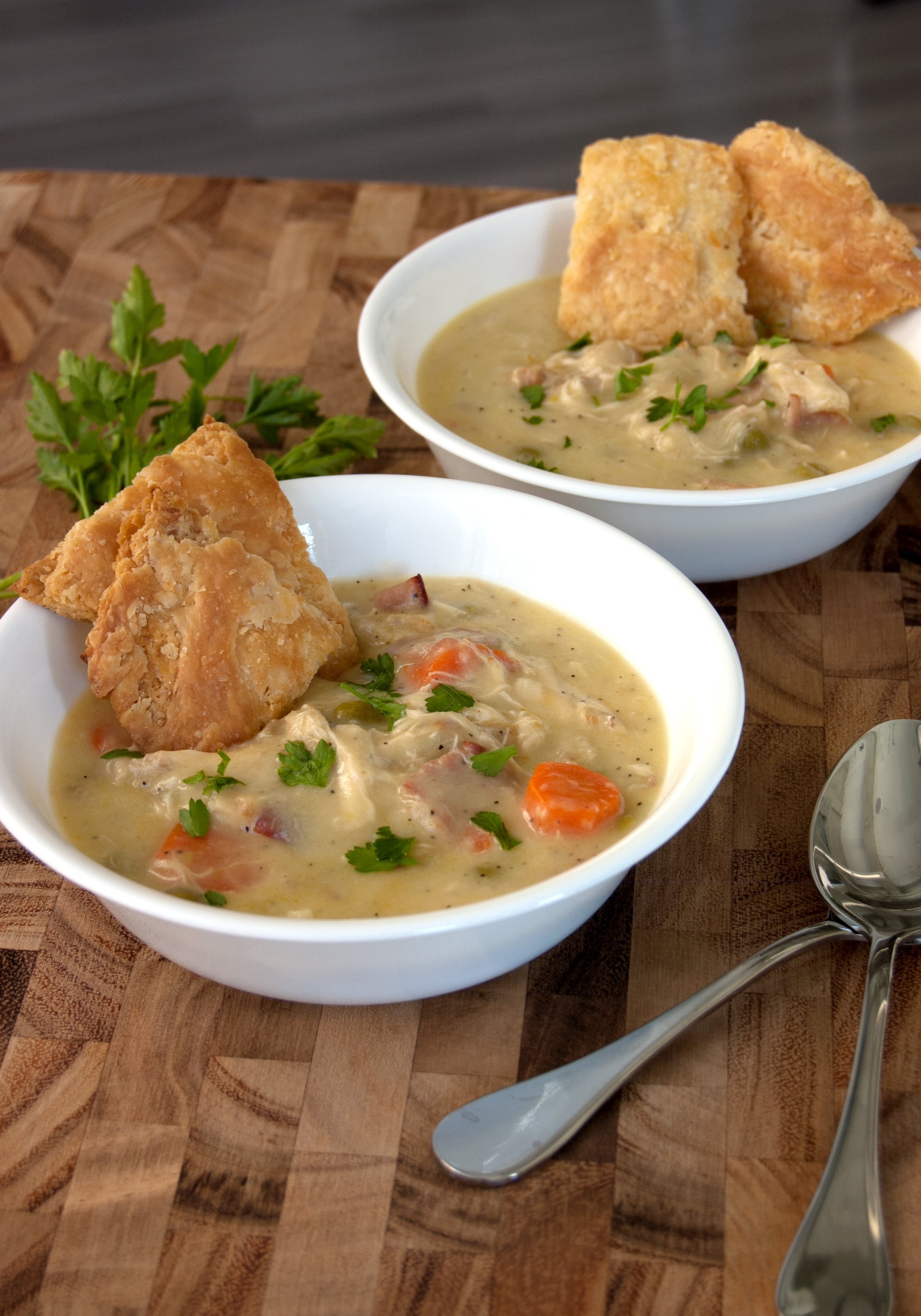 Chicken pot pie soup recipe popsugar food after making this recipe youll understand why chrissy teigen calls herself the soup master its everything you love about chicken pot pie rich hearty forumfinder Image collections