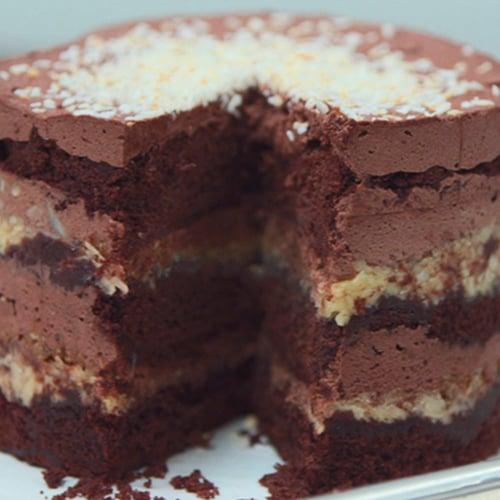 German Chocolate Jimbo Cake