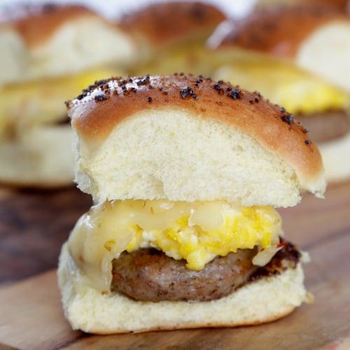 Egg and Sausage Breakfast Sandwich Recipe | POPSUGAR Food