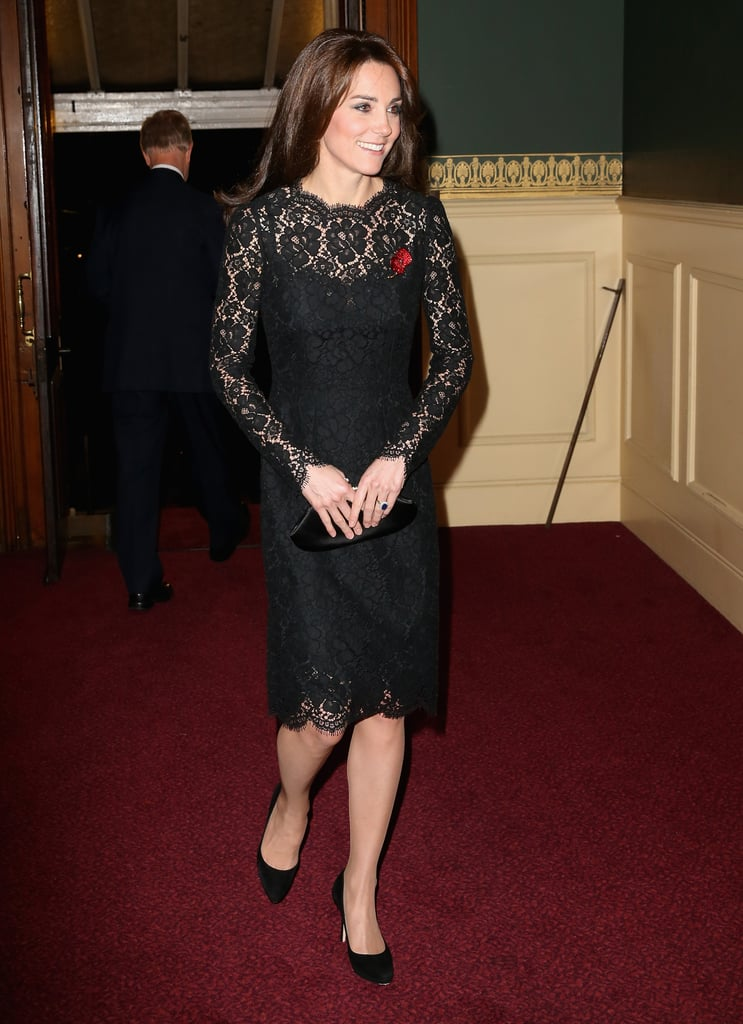 Kate Middleton wearing a Dolce & Gabbana dress at the Annual Festival of Remembrance in 2015.
