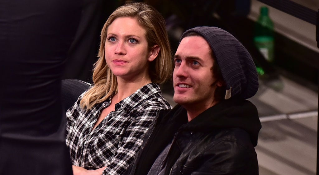 Brittany Snow with boyfriend Andrew Jenks as New York Knicks game