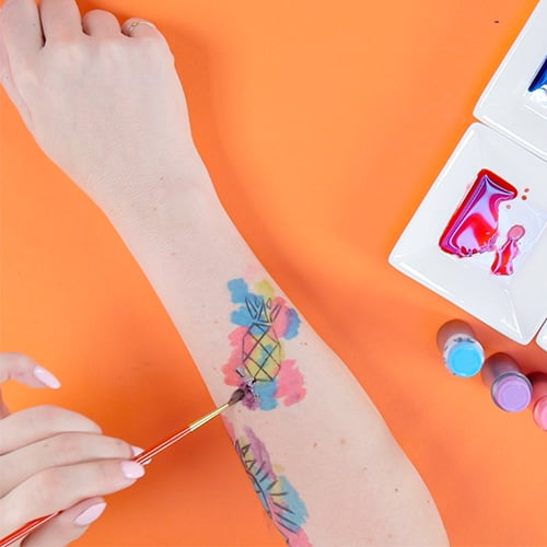 Temporary Watercolor Tattoo | Video