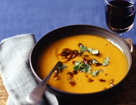 Sherried Kabocha Soup With Spiced Pepitas
