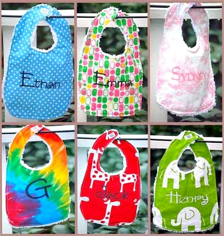 personalized baby bibs for $8