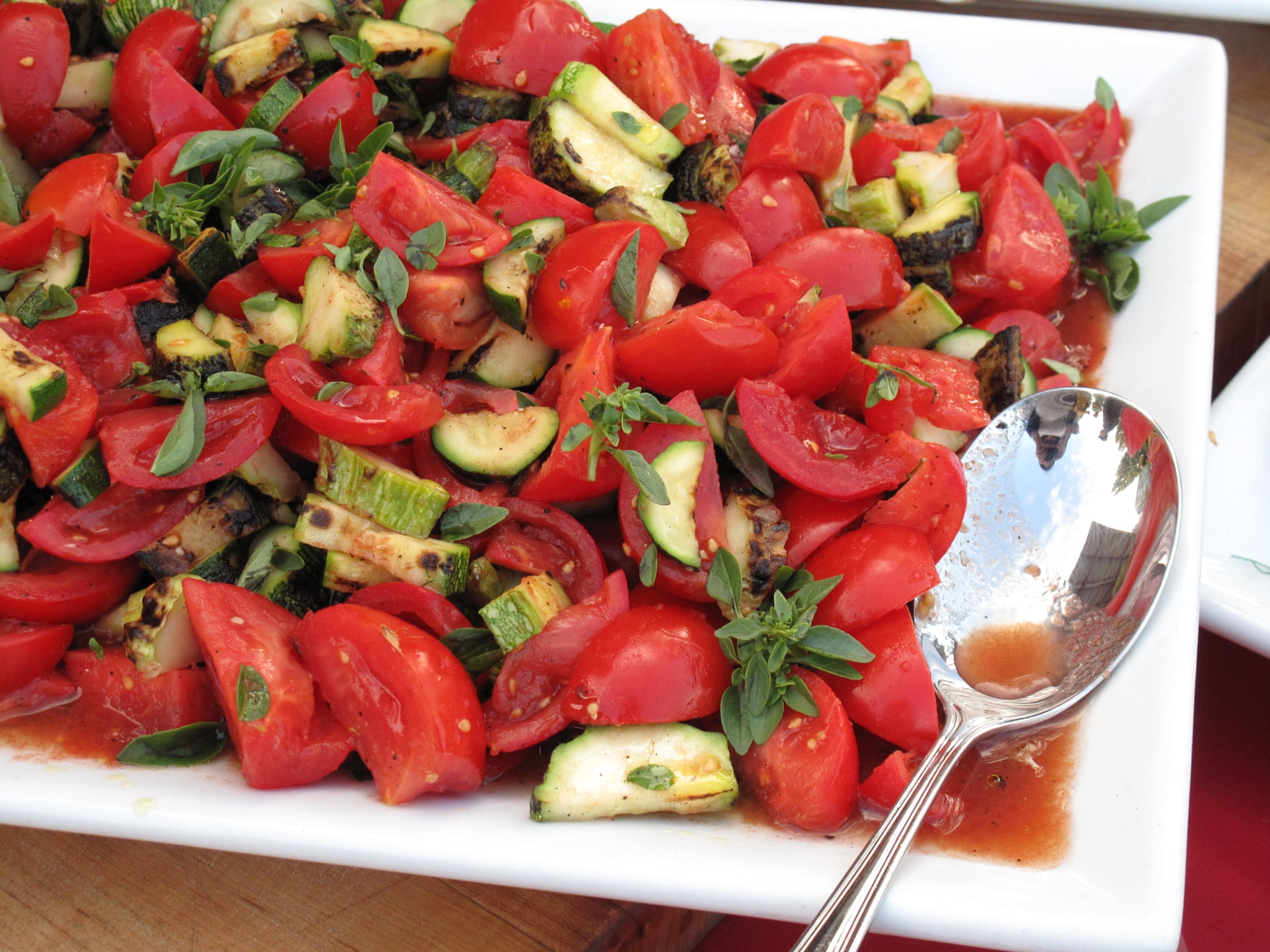A super-fresh tomato salad highlighting the fruits of late Summer.