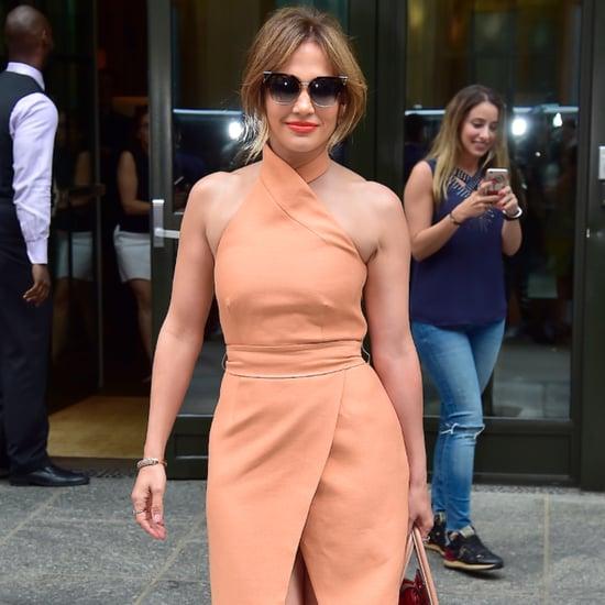 Jennifer Lopez's Tan Dress June 2016