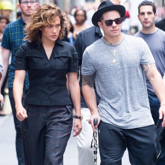 Jennifer Lopez and Casper Smart in New York City July 2016