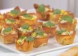 Crab Salad in Crisp Wonton Cups