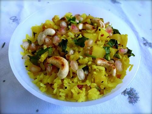 Flaked Rice & Potatoes (Bataka Pauva) by ZestyBaking