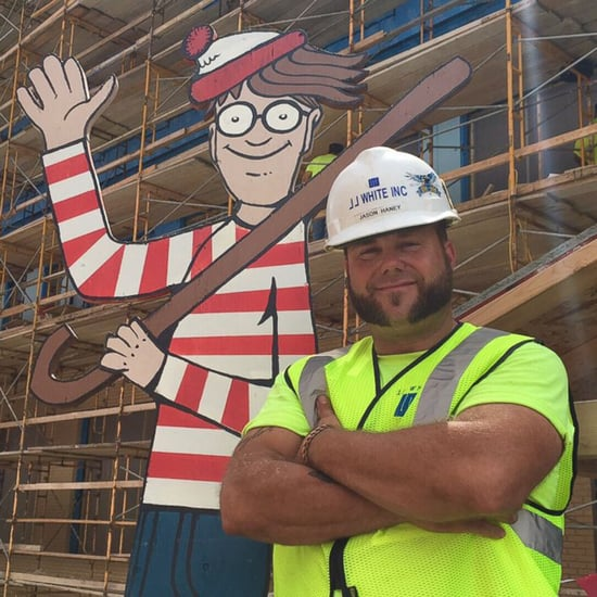 Construction Worker Plays Where's Waldo With Hospital Kids