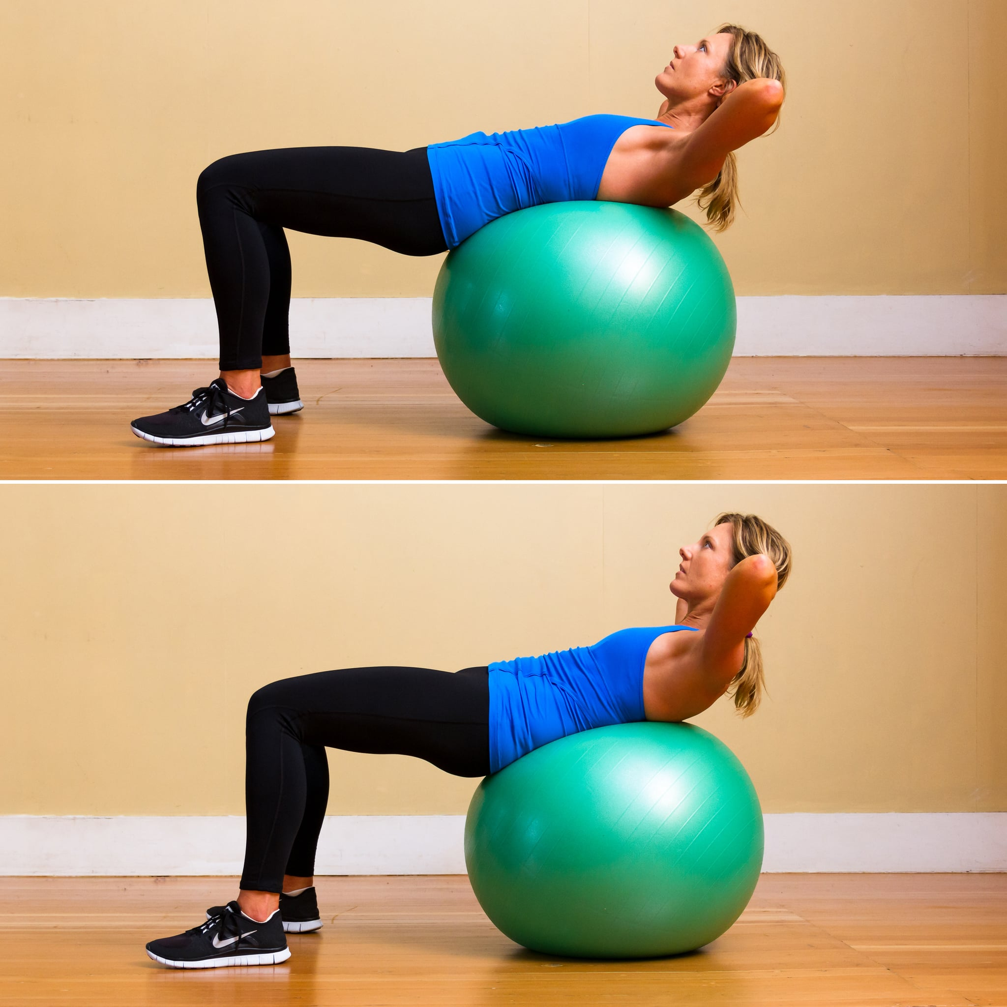 Stability Ball Knee Crunches: Get On The Ball: Crunches