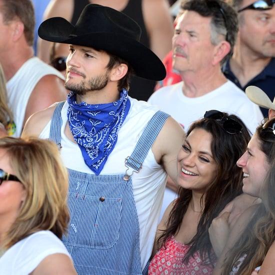 Mila Kunis and Ashton Kutcher at Stagecoach 2014