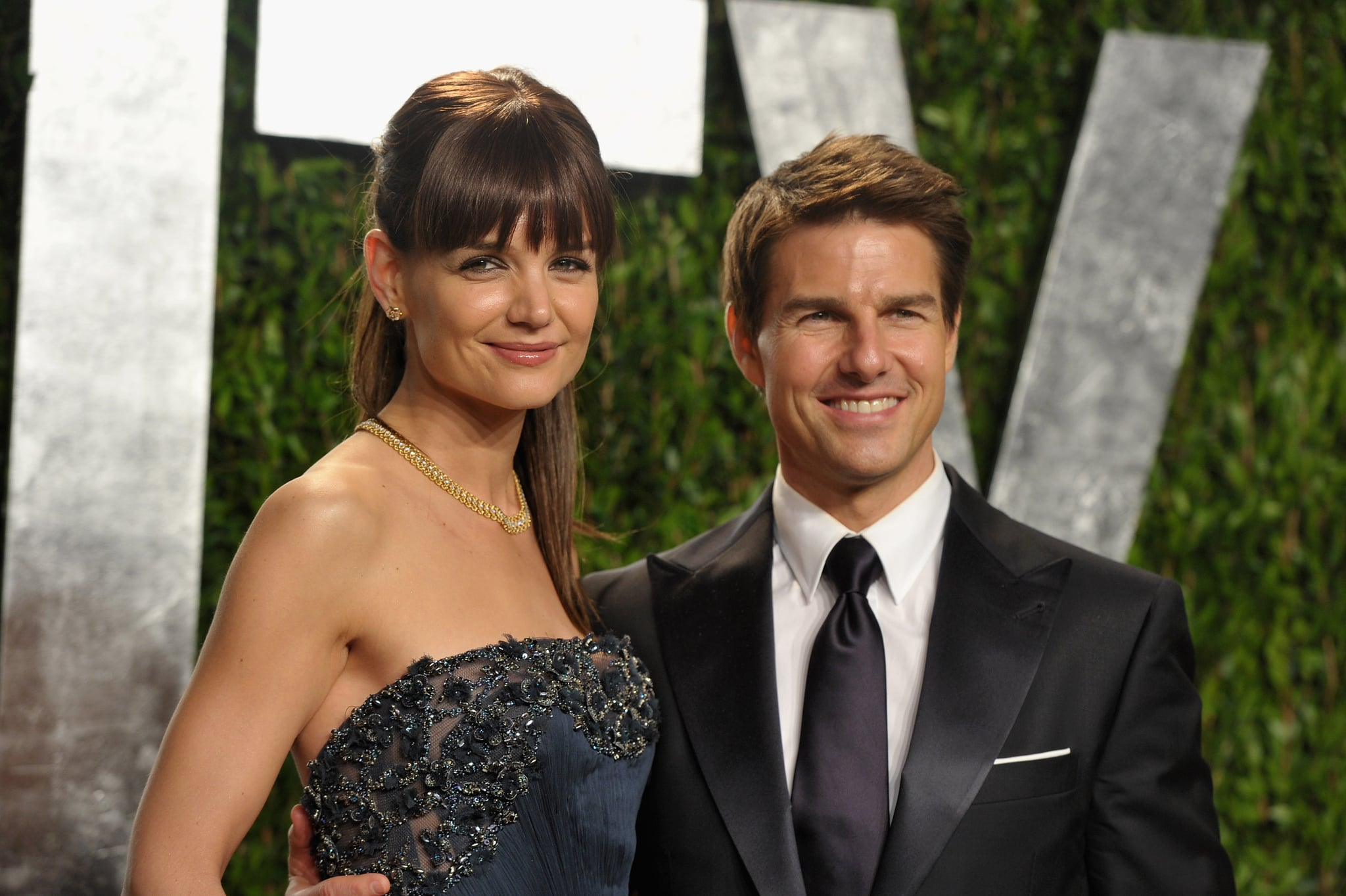 Tom Cruise and Katie Holmes up close at  the Vanity Fair Oscar party.