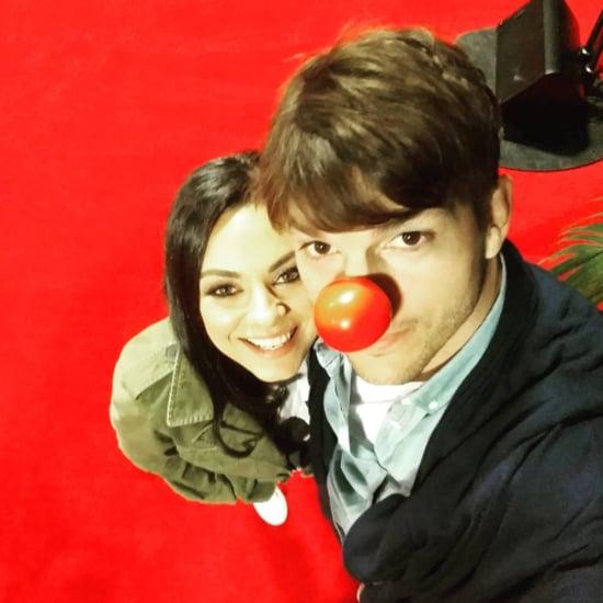 Ashton Kutcher and Mila Kunis Red Nose Day Photo 2016