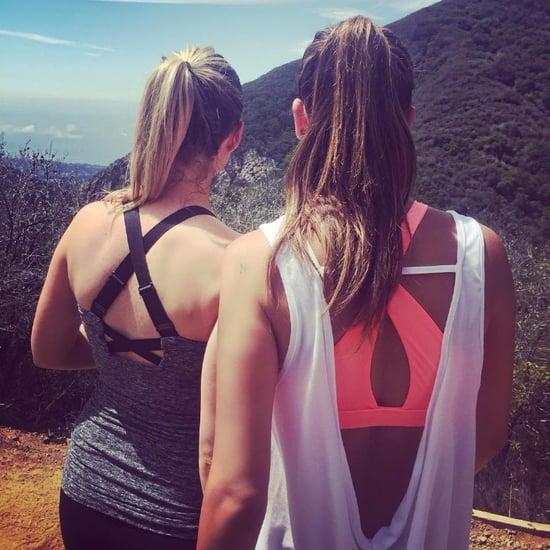 Lea Michele Hiking