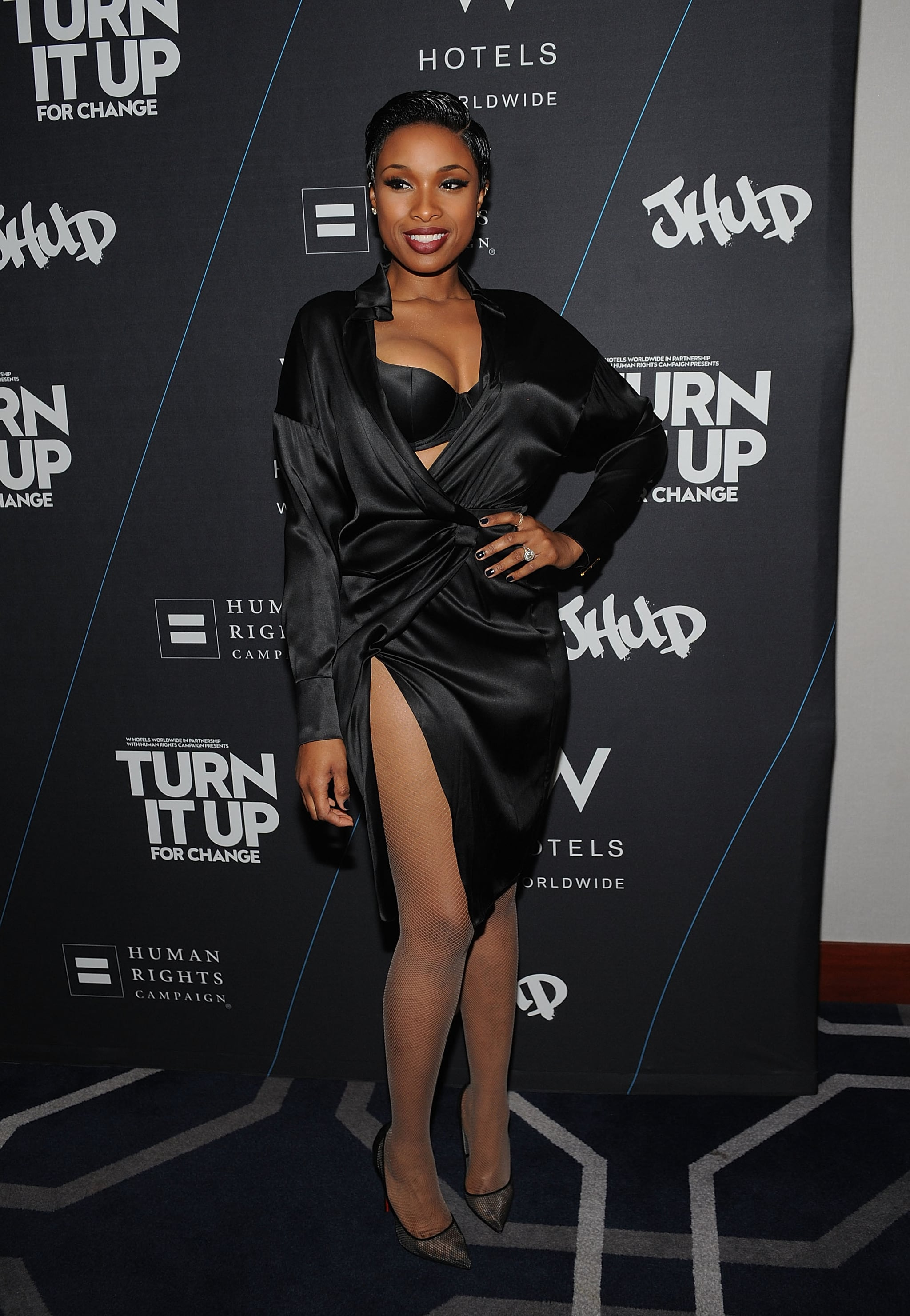 Jennifer Hudson In Sexy Robe Dress  Popsugar Fashion-7592