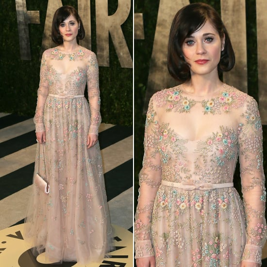 Zooey deschanel oscar party dress 2013 pictures for Zooey deschanel wedding dress
