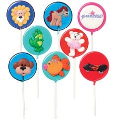 Sample lollipops to accompany books