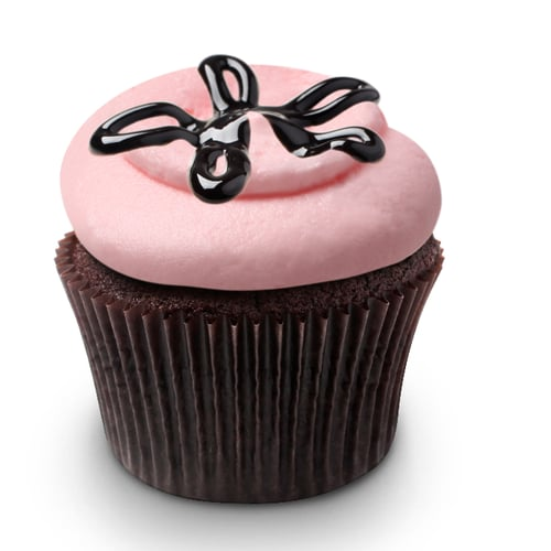 Georgetown Cupcake's Strawberry Lava Fudge Cupcakes