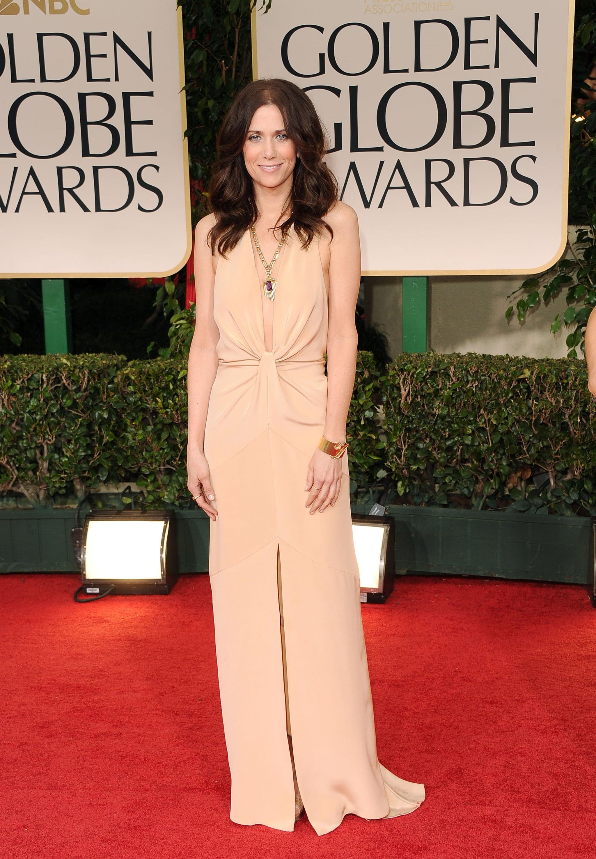 Kristen Wiig at the Golden Globes.