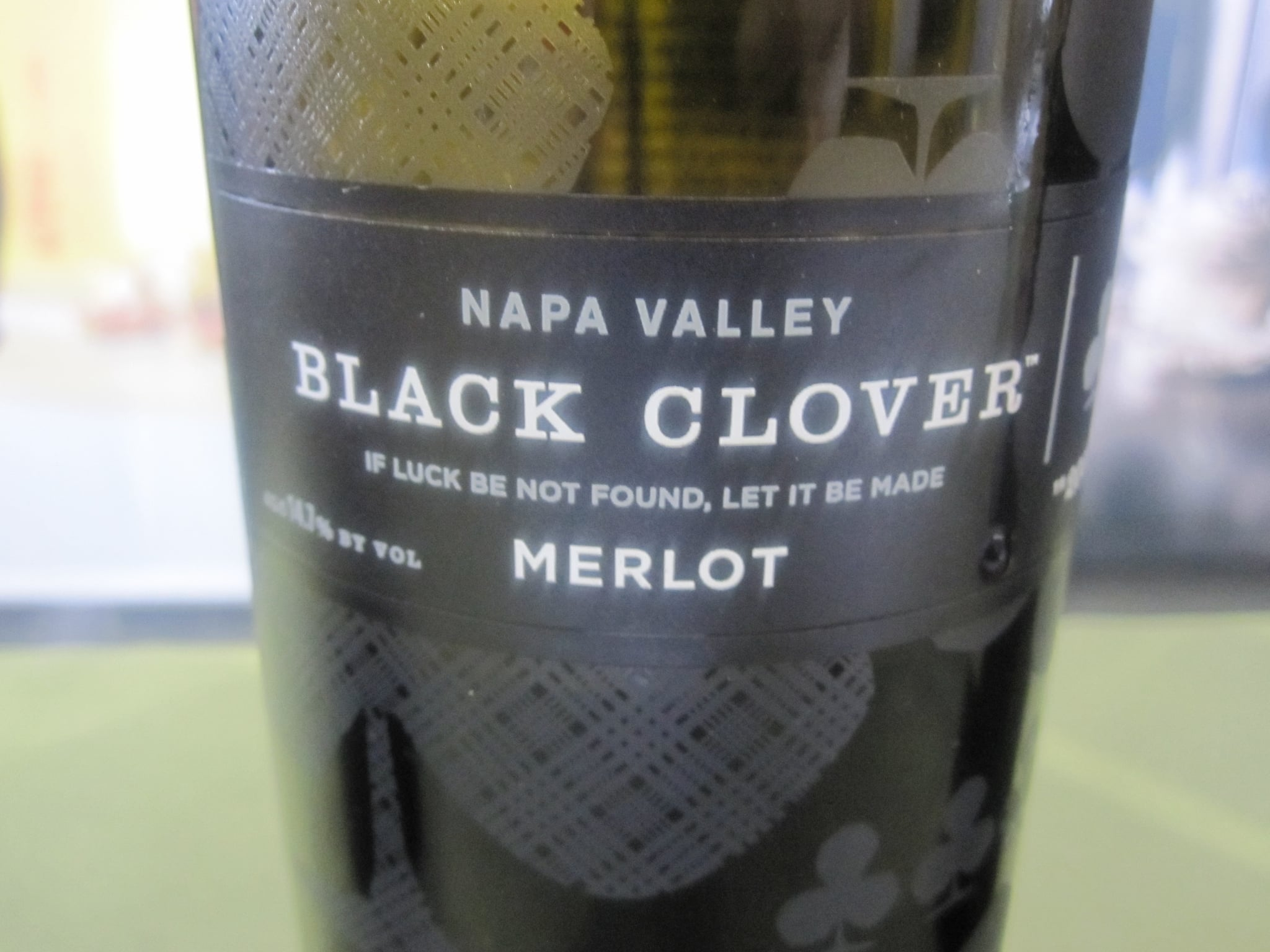 The Black Clover Merlot is fruit-forward and easy drinking, but unfortunately, out of my price range.