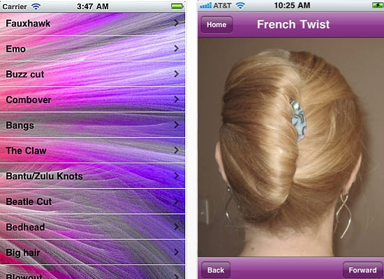 the hairstyle name iphone app popsugar beauty