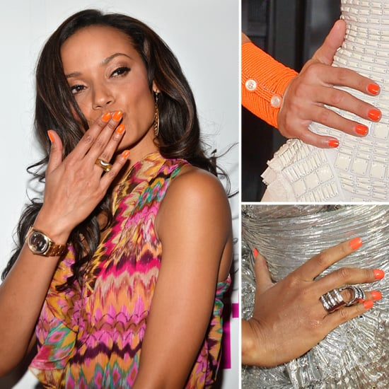 Celebrity Nail Salon: Nail Polish Trend: Tangerine And Red-Orange