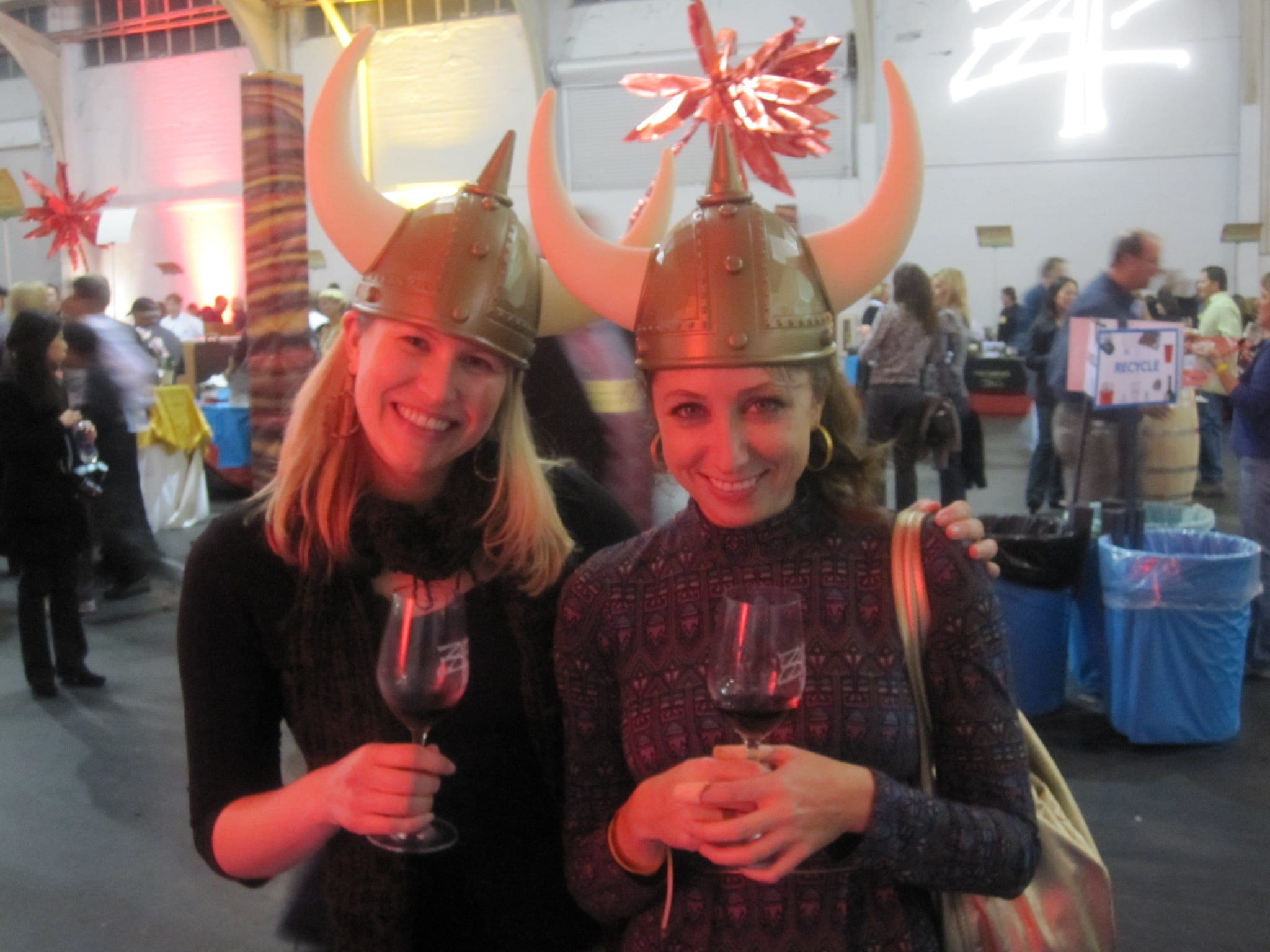 The guys at Murphy-Goode were kind enough to give me and my best friend Viking hats. We wore them for the rest of the tasting.