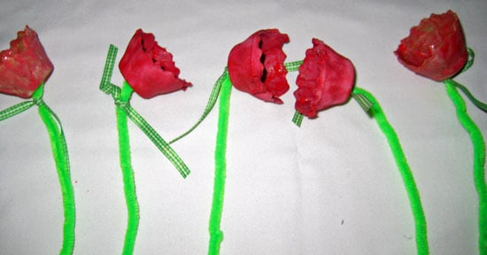 Flowers with Ribbon Stems