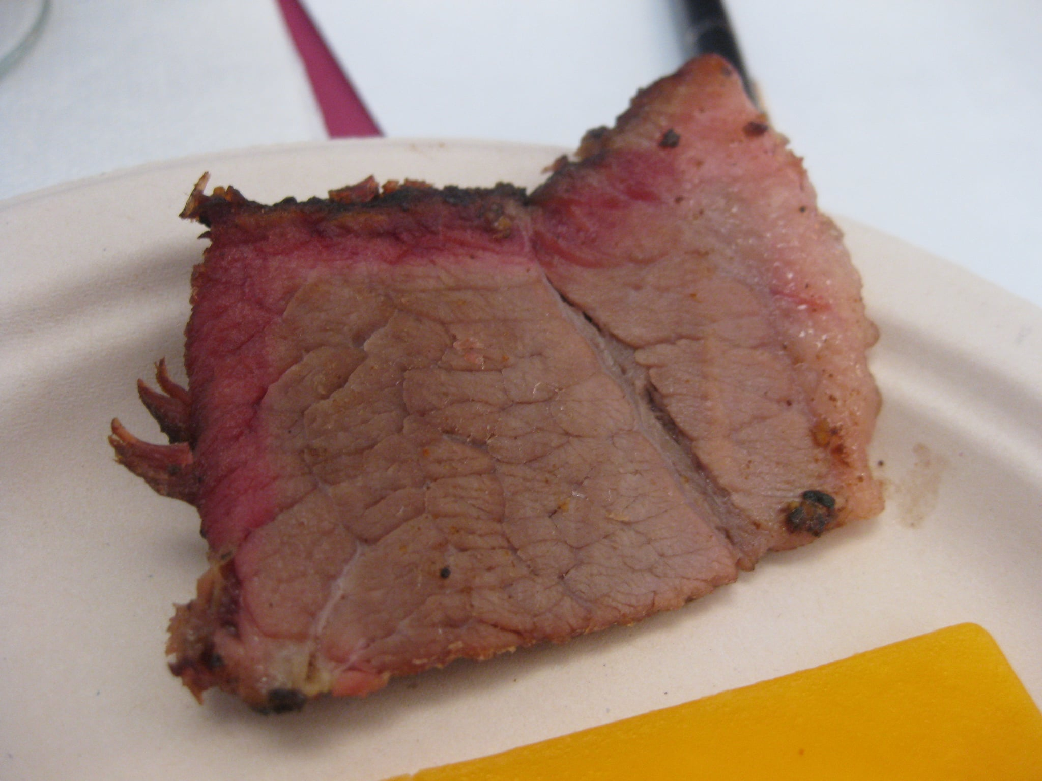 Brisket matched the light tannins of Cline's cool climate Syrah.