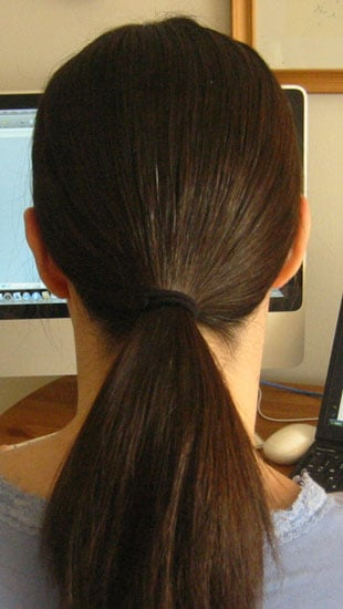 Create a low ponytail.
