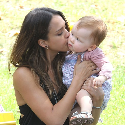 Jessica Alba and Haven Warren at Park   Pictures