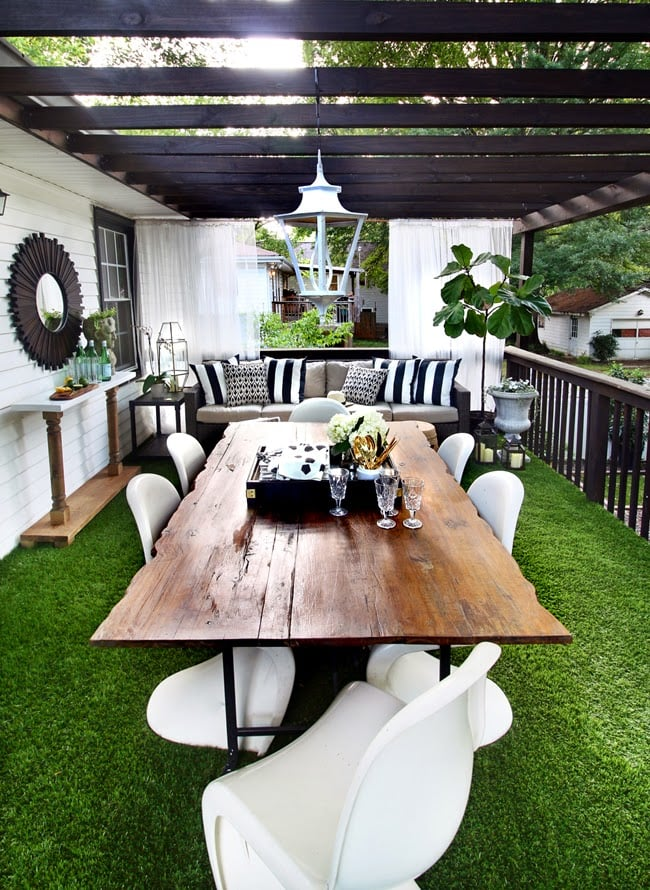 How To Use Astroturf On A Deck Popsugar Home
