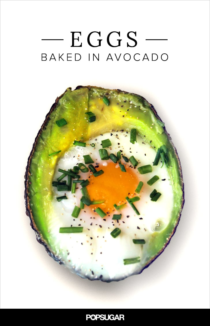 Baked eggs in avocado recipe popsugar fitness share this link forumfinder Images