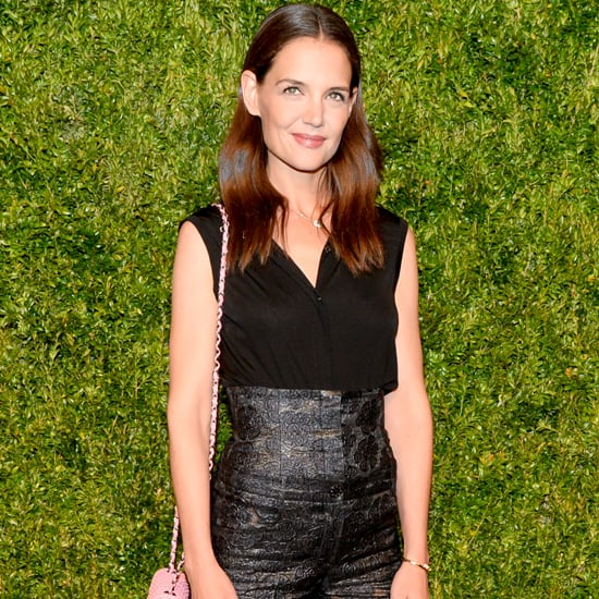 Katie Holmes High-Waisted Pants at Chanel Event 2016